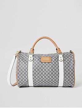 river-island-monogram-duffle-bag-grey