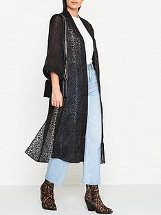 allsaints-carine-devore-kimono-black