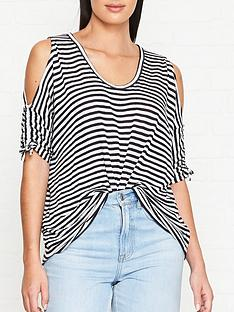 allsaints-harper-cold-shoulder-stripe-t-shirt-whitenavy