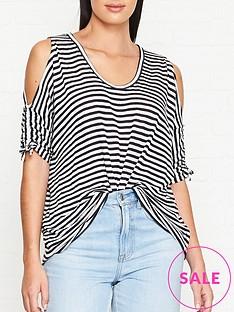 allsaints-harper-cold-shoulder-stripe-t-shirt-whitenavy