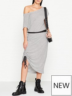 allsaints-brea-stripe-dress-white