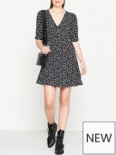 allsaints-kota-scatter-floral-print-button-through-dress-black