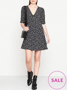 allsaints-kota-scatter-floral-print-button-through-dress-black