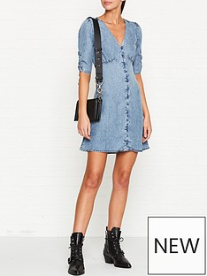 allsaints-kota-chambray-button-through-dress-indigo