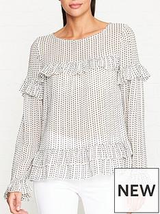 allsaints-evia-embroidered-polka-dot-top-whiteblack