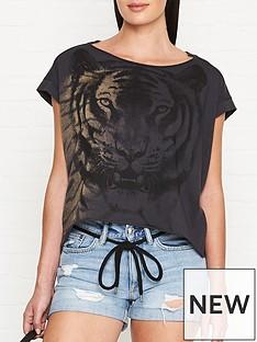 allsaints-tiger-printnbsppina-t-shirt-charcoalnbsp