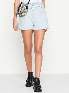allsaints-hannah-paper-bag-shorts-light-blue