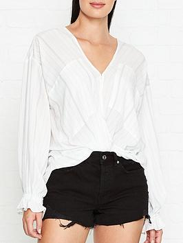 allsaints-penny-stripe-top-crossover-blouse-white