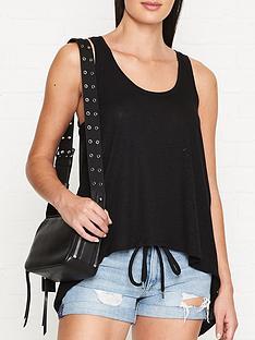 allsaints-francas-vest-chiffon-back-black