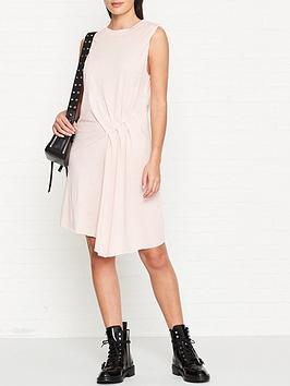 allsaints-duma-jersey-dress-pink