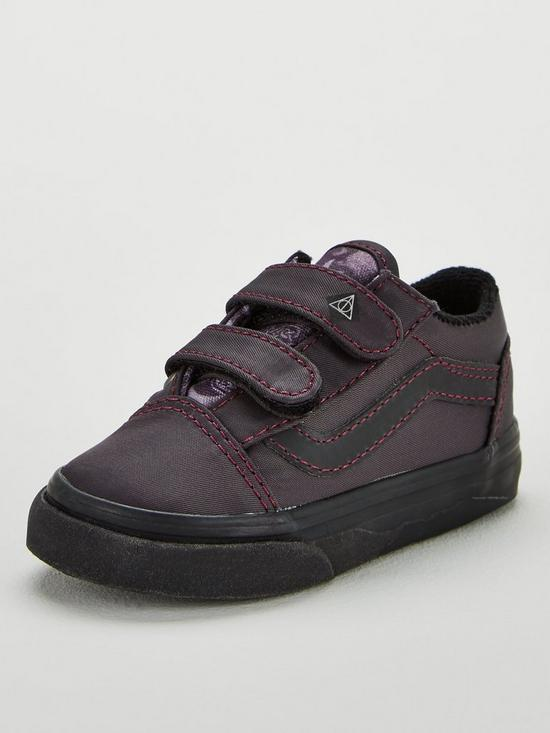fd786e5f65cfa Vans Vans Harry Potter Deathly Hallows Old Skool Velcro Toddler | very.co.uk