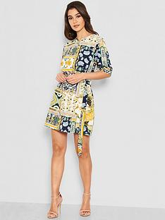 ea51d1003 AX Paris Petite Printed Tie Waist Day Dress - Multi