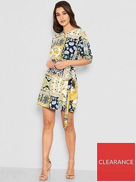 ax-paris-petite-printed-tie-waist-day-dress-multi