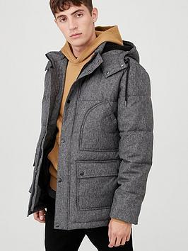 v-by-very-marl-padded-jacket-dark-grey
