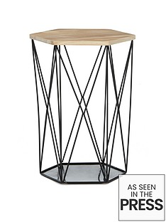 wire-storage-basket-table-black