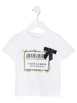 river-island-mini-mini-girls-leopard-print-trim-t-shirt-white