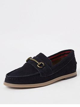 river-island-boys-navy-suede-snaffle-loafers