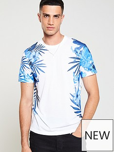 v-by-very-side-panel-floral-t-shirt-white