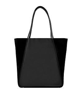 accessorize-suki-suede-shopper-black