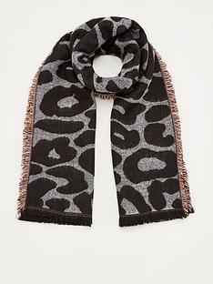 v-by-very-leopard-stripe-scarf-multi