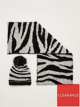v-by-very-fluffy-zebra-hat-and-scarf-set-blackwhite