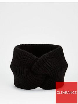 v-by-very-knitted-twist-knot-headband-black