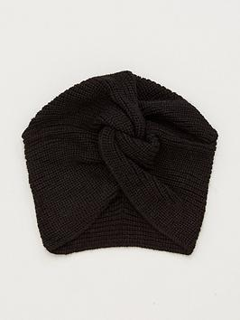 v-by-very-knitted-turban-black