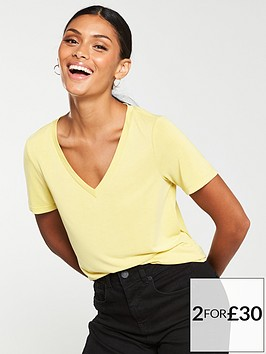 v-by-very-the-essential-v-neck-soft-touch-top-lime