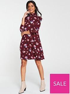 v-by-very-roll-neck-swing-dress-print