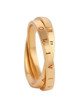 olivia-burton-18k-gold-plated-silver-interlink-ring