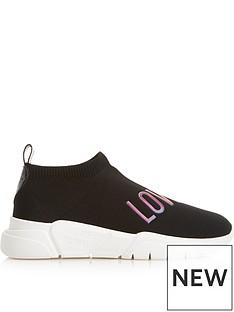 love-moschino-logo-sock-trainers-black