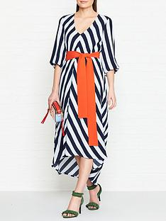 gestuz-vaia-stripe-dress-blue