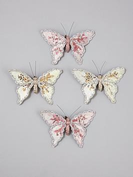 gisela-graham-clip-on-butterfly-christmas-tree-decorations-4-pack