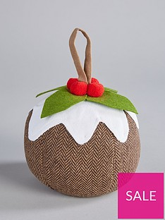 gisela-graham-christmas-pudding-door-stop