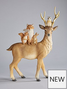 gisela-graham-reindeer-and-friends-ornament-christmas-decoration