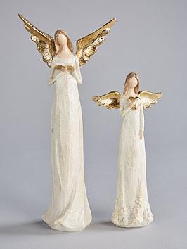 gisela-graham-gisela-graham-angel-christmas-ornaments-set-of-2
