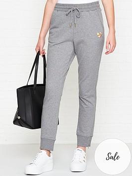 love-moschino-logo-patch-sweatpants-grey