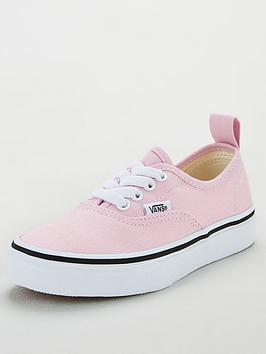 vans-authentic-elastic-lace-childrens-trainers-lilacwhite