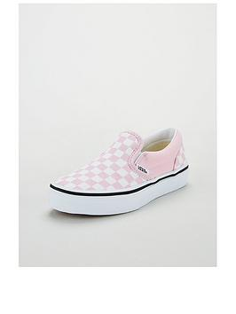 vans-classic-slip-on-checkerboard-childrens-trainers-lilacwhite