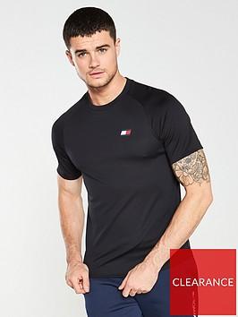 tommy-hilfiger-performance-back-logo-t-shirt-black