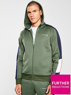 tommy-hilfiger-block-fleece-full-zip-hoodie-khaki