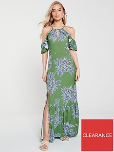 v-by-very-cold-shoulder-maxi-dress-greenfloral