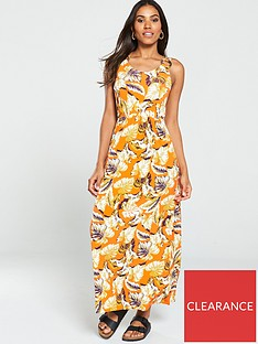 v-by-very-ring-detail-jersey-dress--nbspfloralorange
