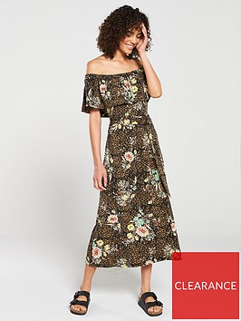 v-by-very-flower-print-jersey-midi-dress-brownfloral-print