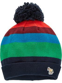 paul-smith-junior-boys-stripe-knitted-bobble-hat-navy