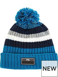 paul-smith-junior-boys-stripe-knitted-bobble-hat-blue