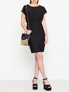 love-moschino-lurex-cap-sleeve-dress-black