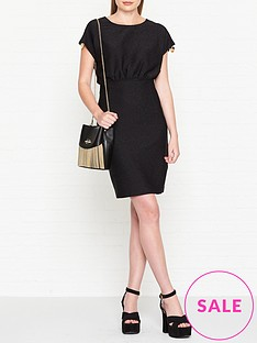 love-moschino-lurex-cap-sleeve-dress-black