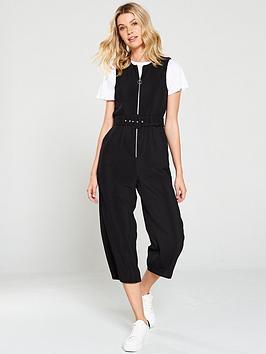 miss-selfridge-zip-front-culotte-jumpsuit-black