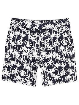 river-island-boys-palm-print-chino-shorts-navy